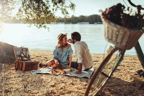Beautiful picnic day Canvas