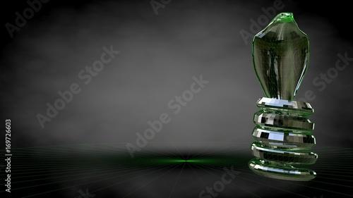 Photo  3d rendering of a reflective cobra snake on a dark black background