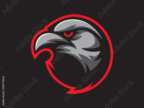 Fotografie, Tablou  Black crow mascot design for logo
