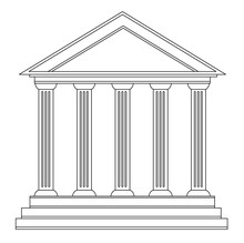 Columns Ancient Greek Historic...