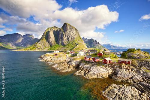 Hamnoy fishing village, Reine, Lofoten Islands, Norway Wallpaper Mural