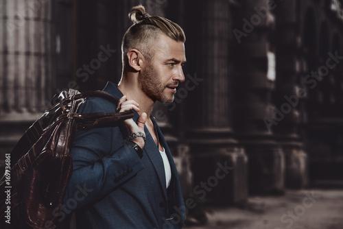 Obraz good-looking mature man - fototapety do salonu