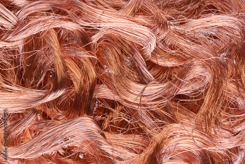 Zdjęcie XXL Tekstury drutu miedzianego