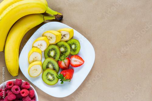 Fotografie, Obraz  Appetizing plate of fresh fruits