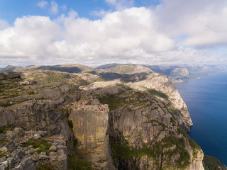 Aerial view of the Pulpit Rock