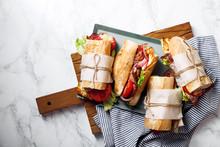 Fresh Baguette Sandwich Bahn-m...