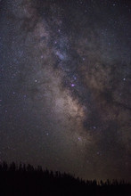 Night Photography Of Milky Way Galaxy Stars Over North America From Grand Tetons National Park
