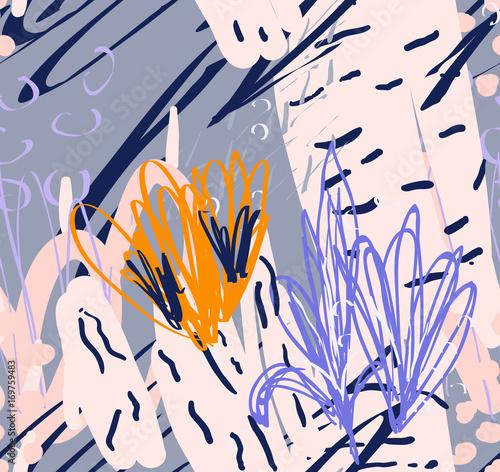 Photo sur Toile Empreintes Graphiques Doodles rough drawn with dots and strokes