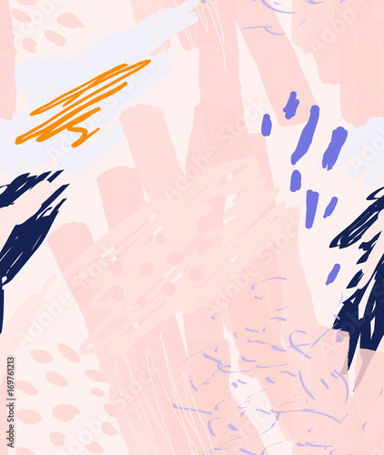 Roughly drawn doodles dots circles with marker brush - 169761213