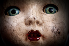 Scary Cracked Old Doll Face