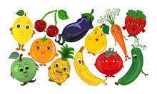 Funny Fruits, Vegetables And B...