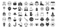 Big Set Of Halloween Silhouett...