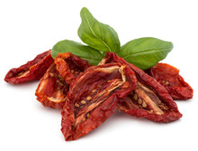 Dried Tomatoes Isolated On Whi...