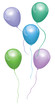 Vector set of realistic isolated balloons for celebration and decoration on the white background. Rainbow Balloons. Vector balloons