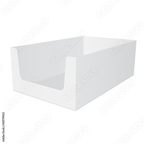 Retail Shelf Box Packaging Mockup Isolated On White Background