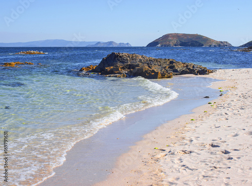 Fotografie, Obraz  Playa de Isla de Ons / Island of Ons beach. A Coruña. Galicia