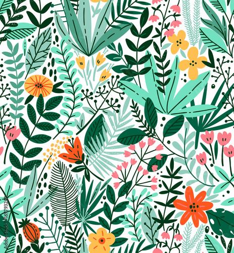 tropikalny-bez-szwu-kwiatowy-wzor-ilustracja