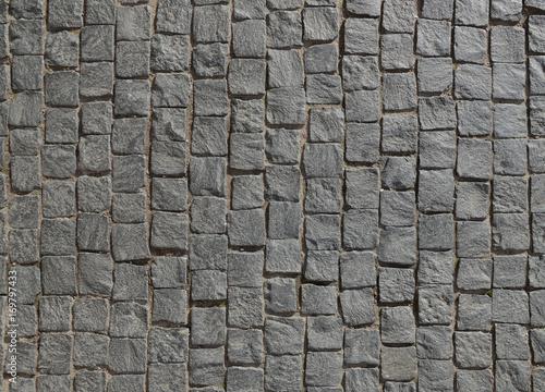 Obraz Abstract background of old cobblestone pavement. - fototapety do salonu