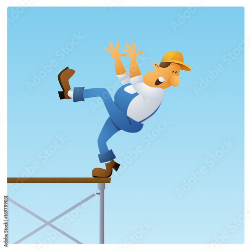 Tradesman Falling Canvas Print