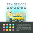 Vector logos taxi service. Mobile app taxi. Set of icons for mobile app. Taxi service.