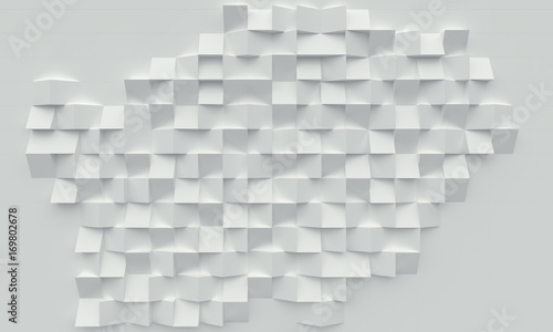 geometric polygonal square 3d background, mosaic with different reliefs in light shades. nobody around, landscape format. © tiero