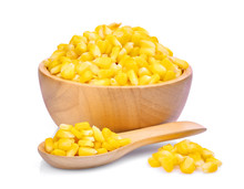 Sweet Corn In Wooden Bowl And ...