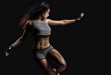 Athletic Woman Body And Workou...