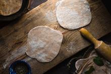 Chapati Bread Preparation On T...
