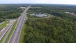 Highway road junction, aerial view video clip Ultra HD 4K 3840x2160
