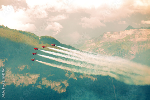 fototapeta na szkło Airshow in Switzerland
