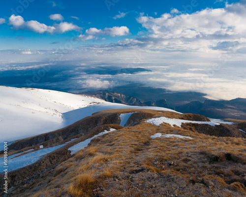 Foto op Aluminium Arctica Mountain day autumn