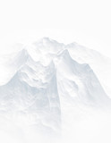 White background with mountains. 3d illustration, 3d rendering. - 169842609