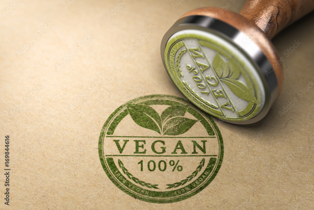 Fototapety, obrazy: Vegan Food Certified