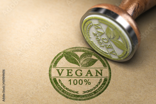 Vegan Food Certified Fototapet