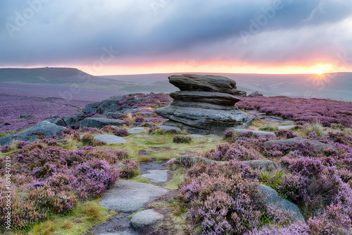 Sunrise at OVer Owker Tor Wallpaper Mural