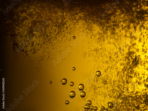 Valokuva  Close up of freshly poured beer with bubbles
