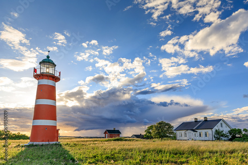 Garden Poster Lighthouse Närsholm Lighthouse, Gotland, Sweden