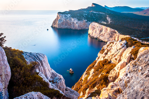 Photo Landscape of the gulf of capo caccia