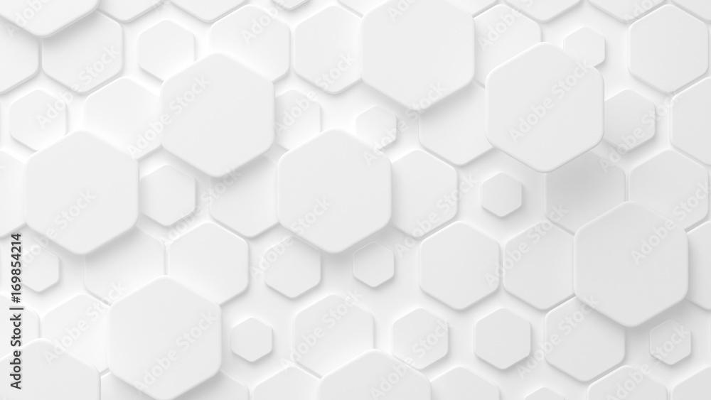 Fototapety, obrazy: White background texture 3D. 3d illustration, 3d rendering.
