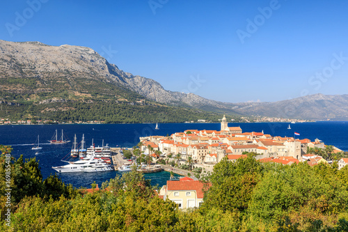 Fotografie, Obraz  View of Korcula Old Town, Croatia