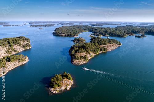 Aerial view of Finnish Archipelago, Finland Canvas Print