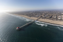 Aerial View Of Huntington Beac...