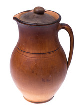 Clay Pitcher With Lid For Wate...