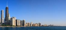 Chicago, Lake Shore Drive, Lake Michigan, North Avenue Beach, Panorama