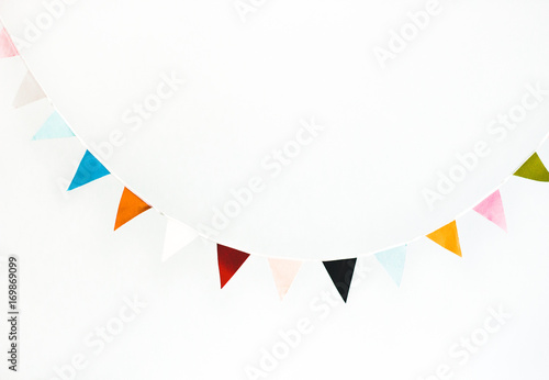 Fotografia  Colorful flag garland