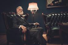 Well-dressed Senior Man In Luxury Interior