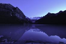 Moon Setting Over Lake Louise