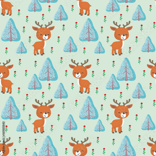 baby-colorful-seamless-pattern-with-the-image-of-a-cute-woodland-animals-vector-background