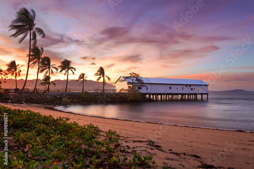 Canvas Print Port Douglas sunset