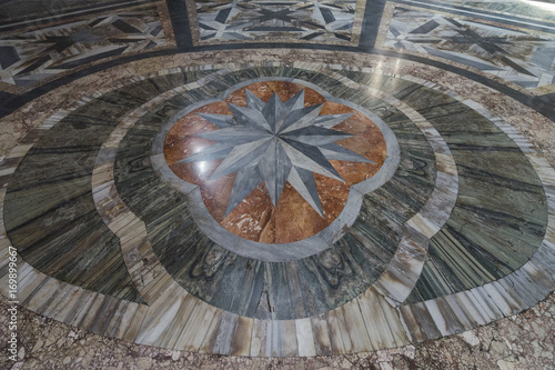 Detail from marble floor of St. Mary of the Angels and the Marty Wallpaper Mural